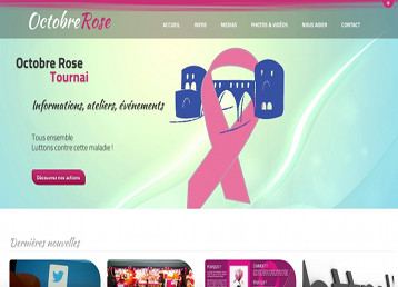 Site Internet Octobre Rose Tournai